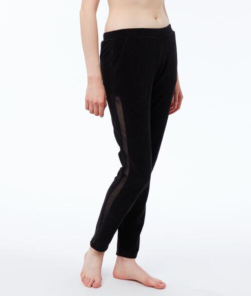 Pantalon velours homewear bande resille