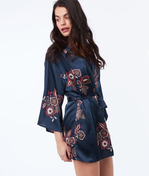 Déshabillé kimono fleuri