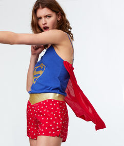 Combinaison super woman bleu.