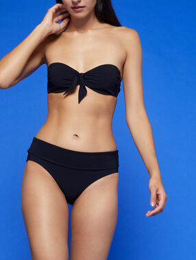 Bas de bikini multiposition noir.