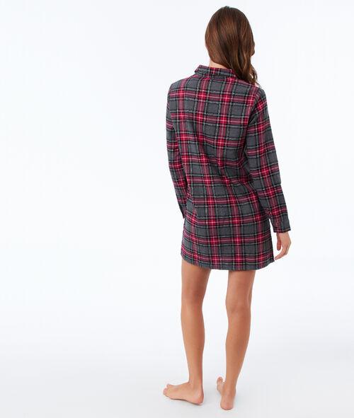 Chemise de nuit à carreaux