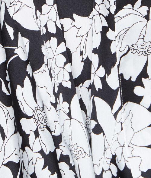 Kimono satin imprimé fleuri