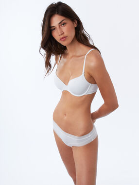 Soutien-gorge n°5 - ampliforme classique, bonnets a/b/c blanc.