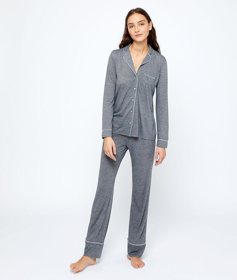 Chemise de pyjama unie;${refinementColor}