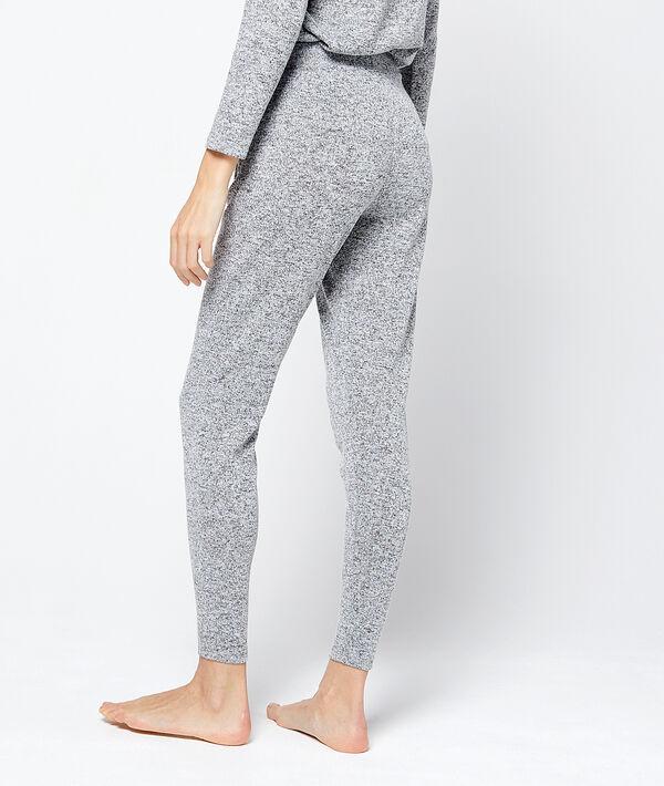 Pantalon loungewear maille chinée douce