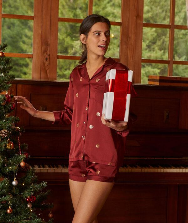 Chemise de pyjama détails métallisés