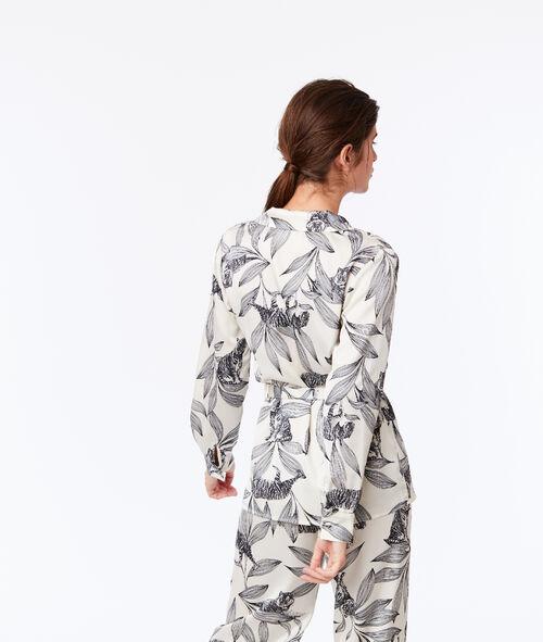 Chemise de pyjama nouée à imprimé floral