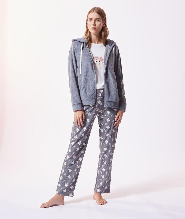 """Pyjama 3 pièces """"Shhh"""", veste micropolaire;${refinementColor}"""