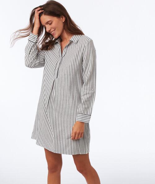 Chemise de nuit à rayures
