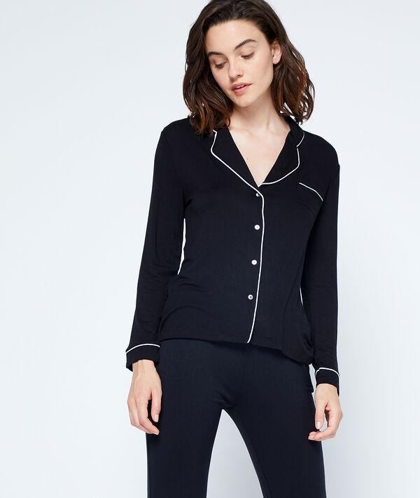 Chemise de pyjama - WALLYNE - M - Noir - Femme - Etam
