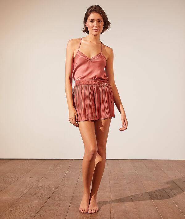 Short de pyjama plissé;${refinementColor}