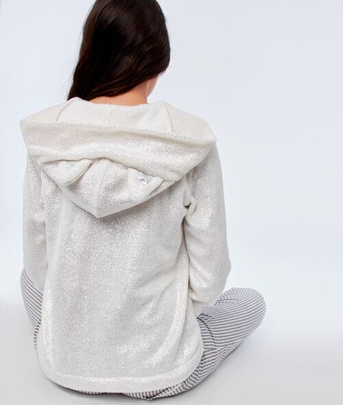 Veste à capuche en fausse fourrure