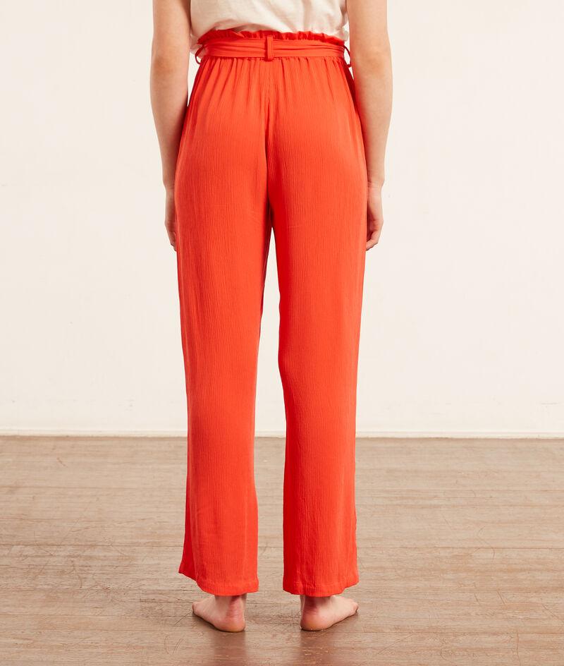 Pantalon de pyjama noué;${refinementColor}