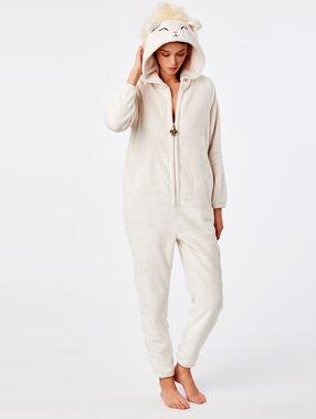 Combinaison pyjama lion beige.