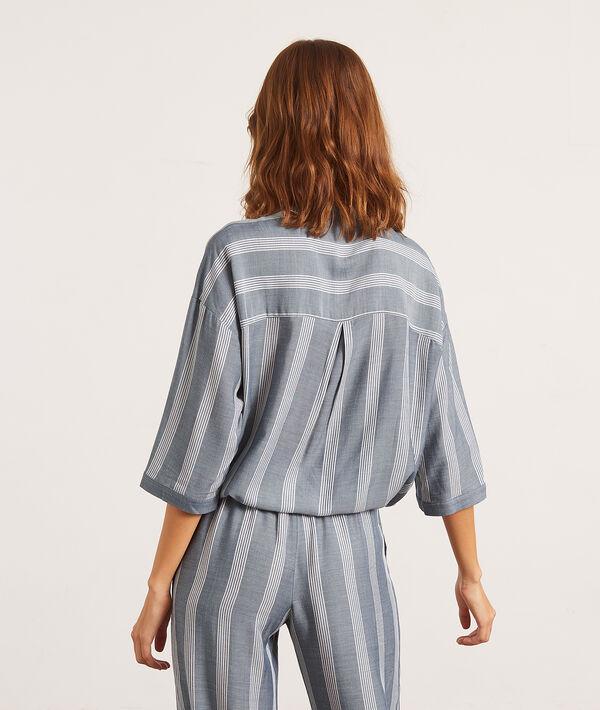 Chemise de pyjama manches 3/4;${refinementColor}