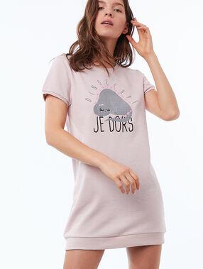 T-shirt de nuit xl rose pâle.