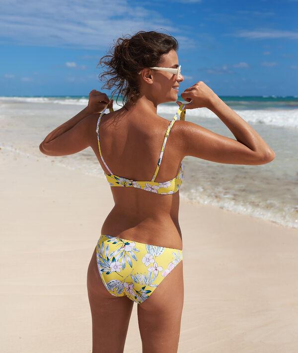 Bas de bikini simple, imprimé fleuri;${refinementColor}