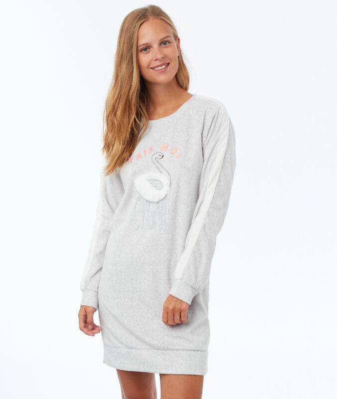 Robe sweat homewear ecru.