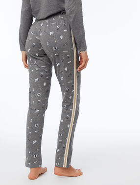 Pantalon à motifs bande latérale anthracite.