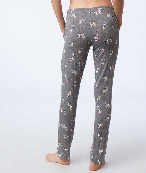 Pantalon de pyjama à motifs chat