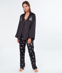 Pyjama 3 pièces noir.