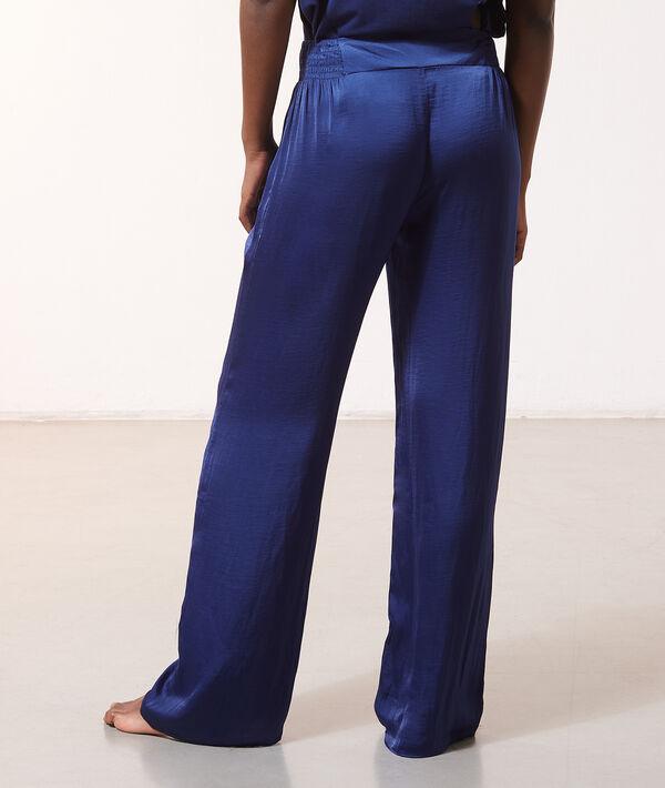 Pantalon de pyjama satiné à nouer;${refinementColor}