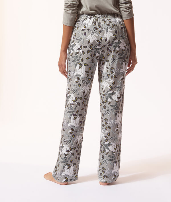 Pantalon de pyjama imprimé floral;${refinementColor}