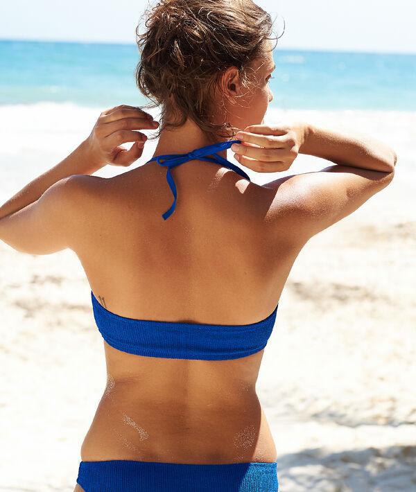 Haut de maillot de bain bandeau texturé