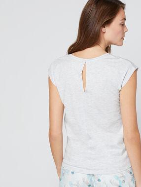 T-shirt imprimé à message gris clair.