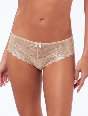 Shorty en dentelle or.