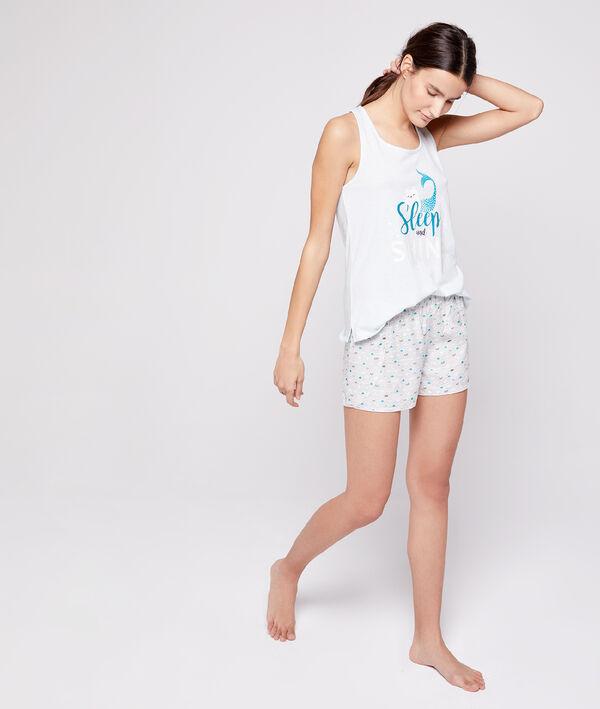 Shorts à motifs coquillage