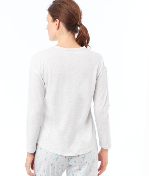 T-shirt détails fausse fourrure