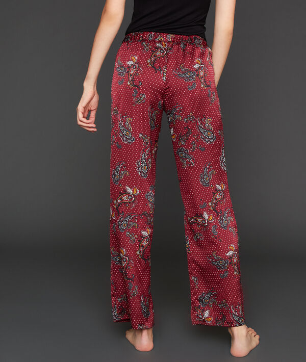 Pantalon large satiné