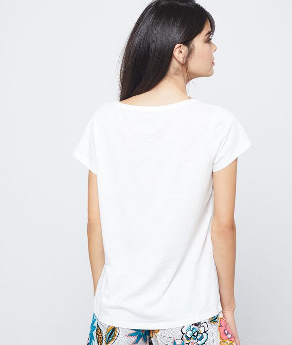 T-shirt imprimé girafe en coton