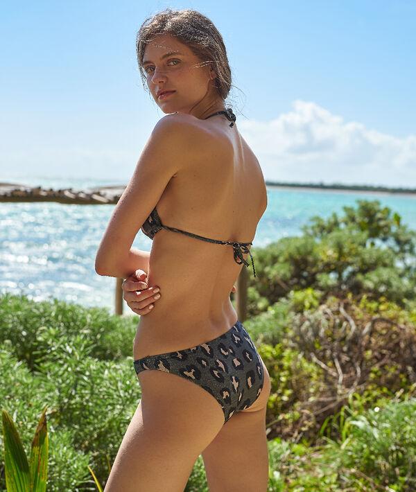 Bas de bikini simple, imprimé léopard;${refinementColor}