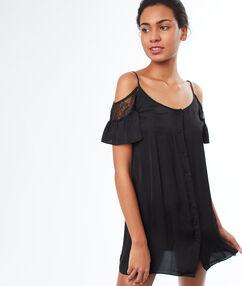 Nuisette épaules dénudées noir.