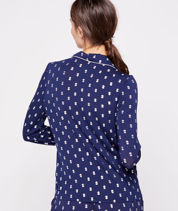 Chemise de pyjama à motifs ananas