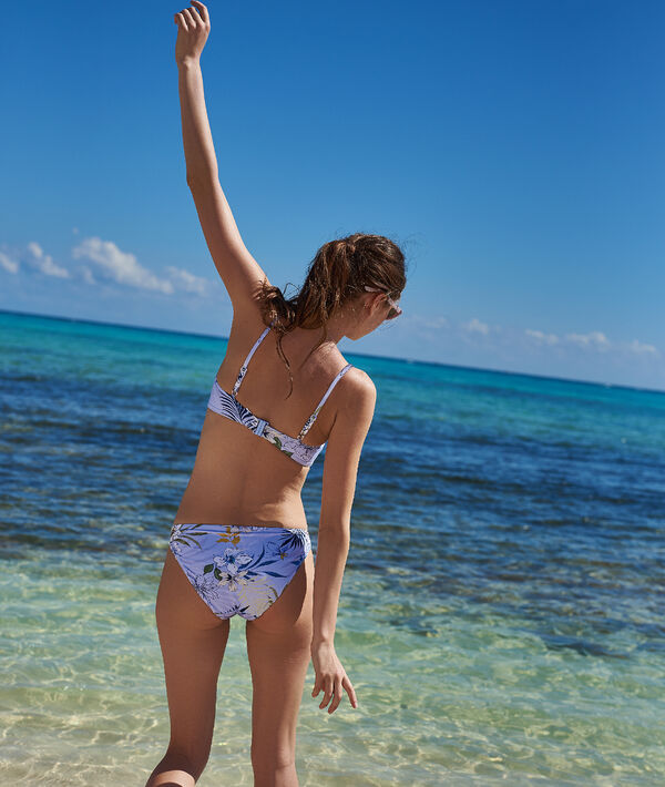 Bas de bikini simple, imprimé floral;${refinementColor}