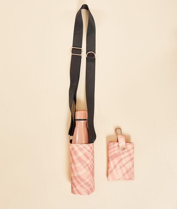 Gourde métallisée et sac bandoulière avec pochette téléphone;${refinementColor}