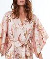 Kimono déshabillé satin imprimé