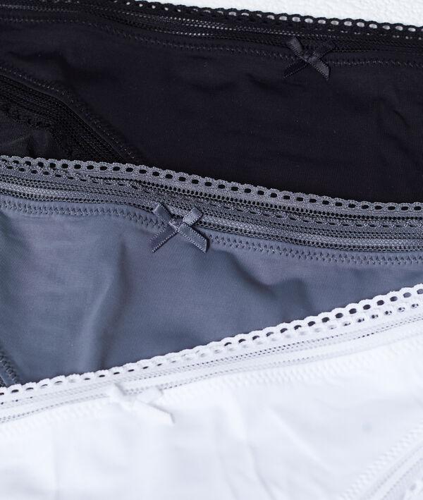 Pack de 3 culottes, bords ajourés