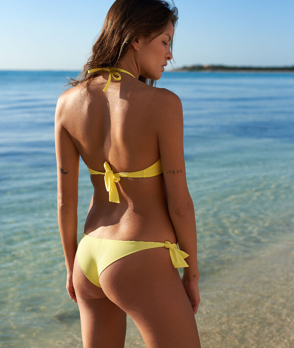 Bas de bikini brésilien, à nouettes