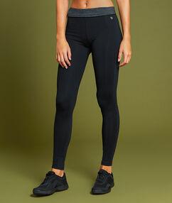 Pantalon de sport ultra stretch taille haute noir.