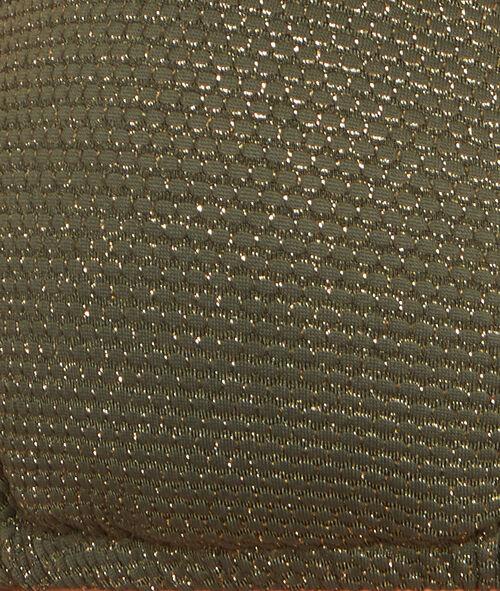 Haut de maillot de bain triangle uni, fibre métallisé