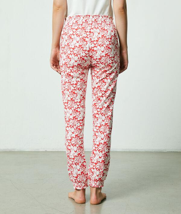 Pantalon imprimé floral;${refinementColor}