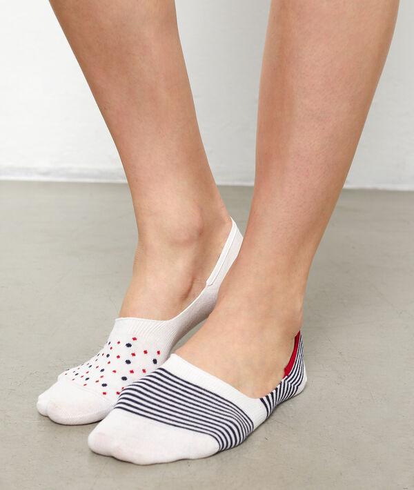 2 paires de socquettes invisibles fantaisie