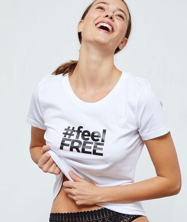 """T-shirt """"Feel Free"""" en coton;${refinementColor}"""