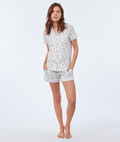 Chemise de pyjama motifs licorne