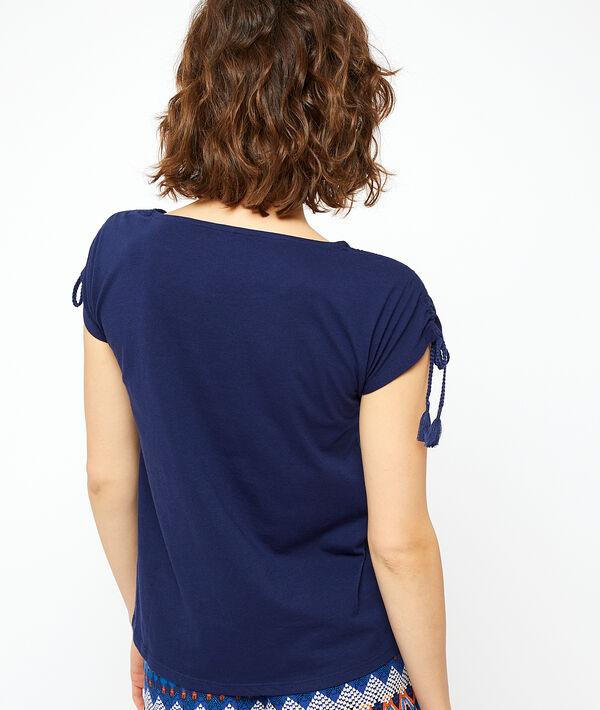 T-shirt à manches nouées;${refinementColor}