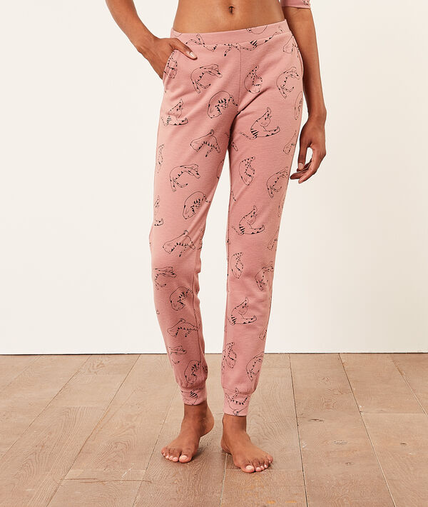 Pantalon de pyjama imprimé chats;${refinementColor}